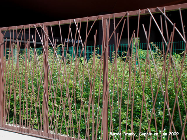 Les roseaux m talliques for Barriere de jardin belgique