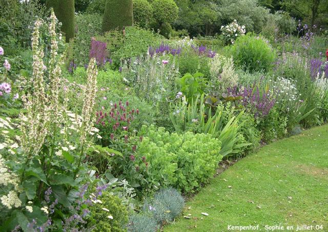 Le jardin du kempenhof d tails du mixed border for Jardin anglais mixed border