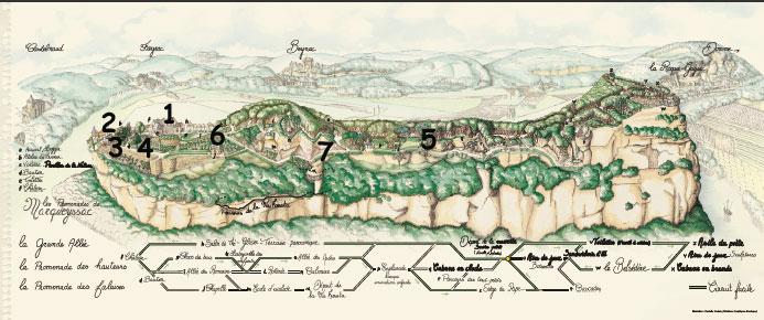 Plan des jardins de marqueyssac - Dessiner un plan de jardin ...