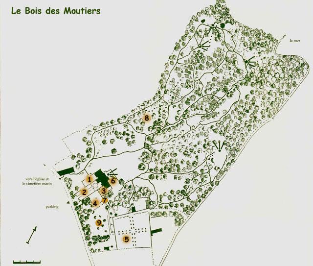 Le Bois des Moutiers plan et introduction à la visite