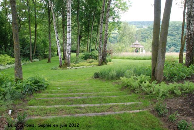 Le jardin romantique - Sous bassement en bois ...